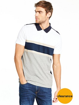 v-by-very-short-sleeve-chest-stripe-pique-polo