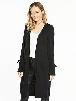 v-by-very-tie-cuff-split-side-maxi-cardigan-black