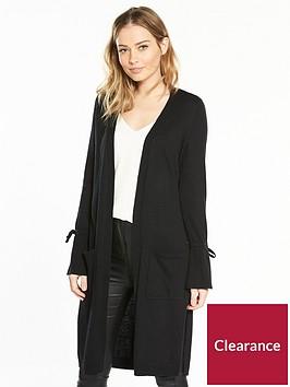 v-by-very-tie-cuff-split-side-maxi-cardigan-black