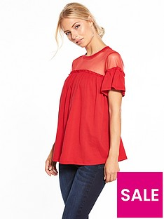 v-by-very-ruffle-mesh-smock-top