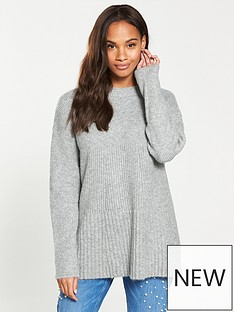 v-by-very-funnel-neck-trapeze-jumper-greynbspmarl