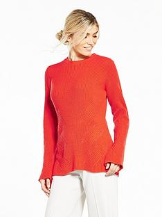 v-by-very-flare-sleeve-ribbed-jumper
