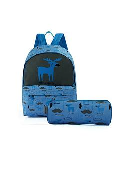 David & Goliath Moose Backpack And Pencil Case Set