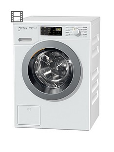 Miele WDB020 ECO 7kg Load, 1400 Spin Washing Machine with Honeycomb Drum - White