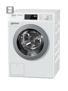 Miele WDD030 EcoPlus& Comfort 8kgLoad, 1400 Spin Washing Machine with Honeycomb Drum - White