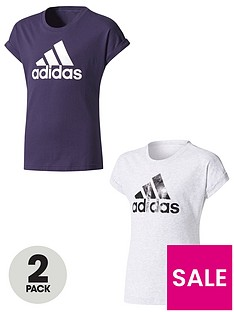 adidas-older-girls-pack-of-2-logo-tees
