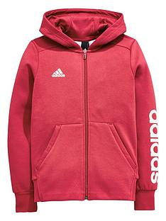 adidas-older-girls-linear-full-zip-hoody
