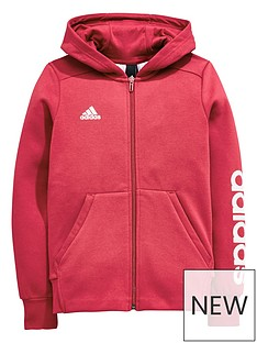 adidas-older-girls-linear-full-zip-hoody