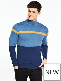 river-island-roll-neck-blocked-jumper
