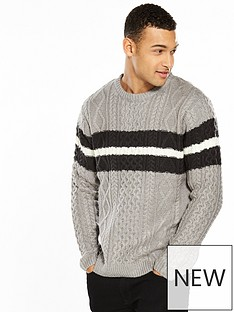 river-island-cable-stripe-jumper