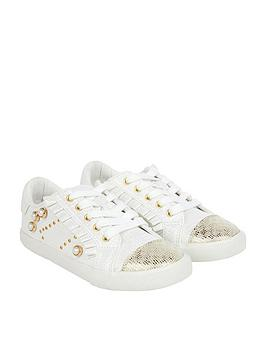 monsoon-lace-up-pearl-frill-trainer