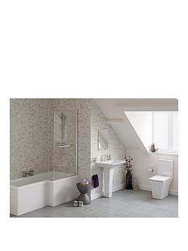 indulge-right-hand-showerbath-suite-ndash-includes-bath-bath-screen-pedestal-basin-toilet-and-taps