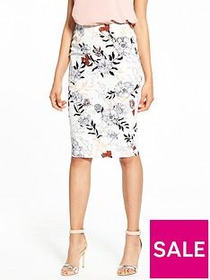 river-island-river-island-ditsy-floral-print-pencil-skirt