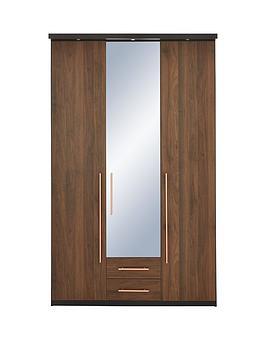 new-vermont-3-door-2-drawer-mirrored-wardrobe-with-spotlights