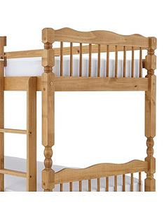 spindle-solid-pine-detachable-bunk-bed-with-mattress-options