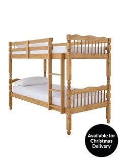 spindle-solid-pine-bunk-bed-with-mattress-options
