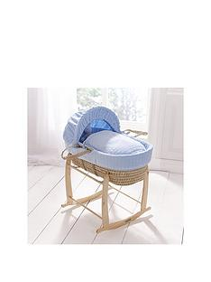 clair-de-lune-marshmallow-palm-moses-basket-amp-deluxe-rocking-stand