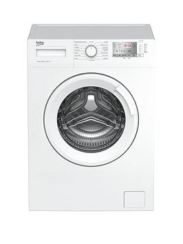 Beko Wtg841M2W 8Kg Load, 1400 Spin Washing Machine - White Best Price, Cheapest Prices