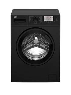 Beko WTG941B1B 9kg Load, 1400 Spin Washing Machine - Black