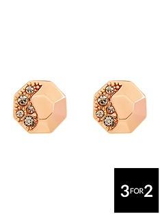 karen-millen-rose-gold-colour-plated-swarovskinbspearrings