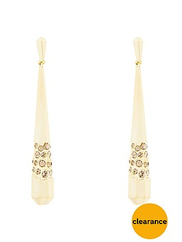 karen-millen-gold-colour-plated-swarovskinbspearrings