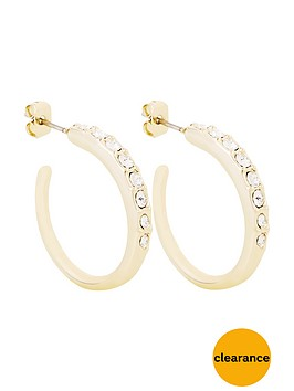 karen-millen-gold-colour-plated-swarovskinbspearrings