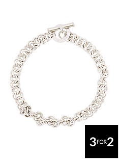 karen-millen-silver-colour-plated-bracelet