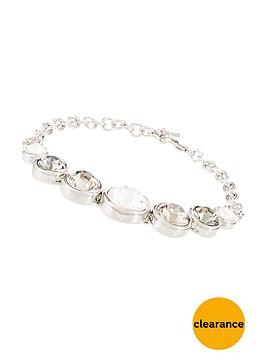karen-millen-silver-colour-plated-swarovskinbspteardrop-bracelet