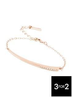 karen-millen-krose-gold-colour-plated-swarovski-bracelet