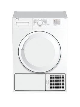 Beko Dtgc8000W 8Kg Load Full Size Condenser Sensor Tumble Dryer – White