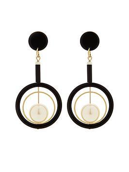 v-by-very-pearl-drop-circle-detail-earrings