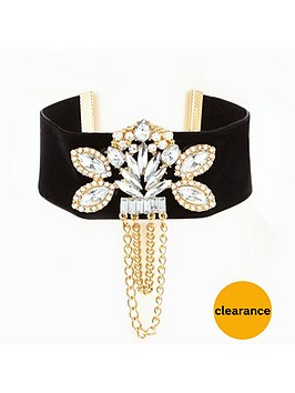v-by-very-jewel-detail-and-drop-chain-choker-black