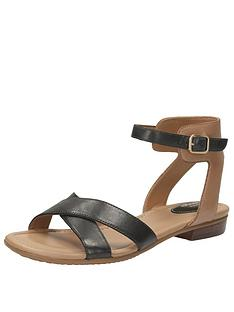 clarks-viveca-zeal4-wide-fit-cross-strap-flat-sandal-black
