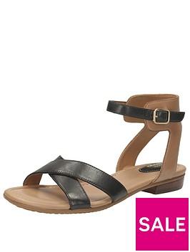 clarks-viveca-zeal4-wide-fit-cross-strap-flat-sandal-black