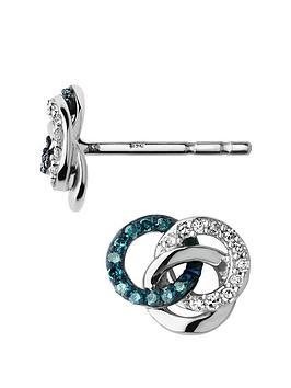 links-of-london-treasured-sterling-silver-white-amp-blue-diamond-earringsnbsp