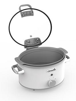 Crock-Pot Hinged Lid Saute Slow Cooker With Duraceramic Csc038 - White Best Price, Cheapest Prices