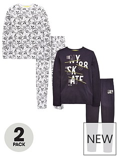 v-by-very-boys-2-pack-skullskate-pyjamas
