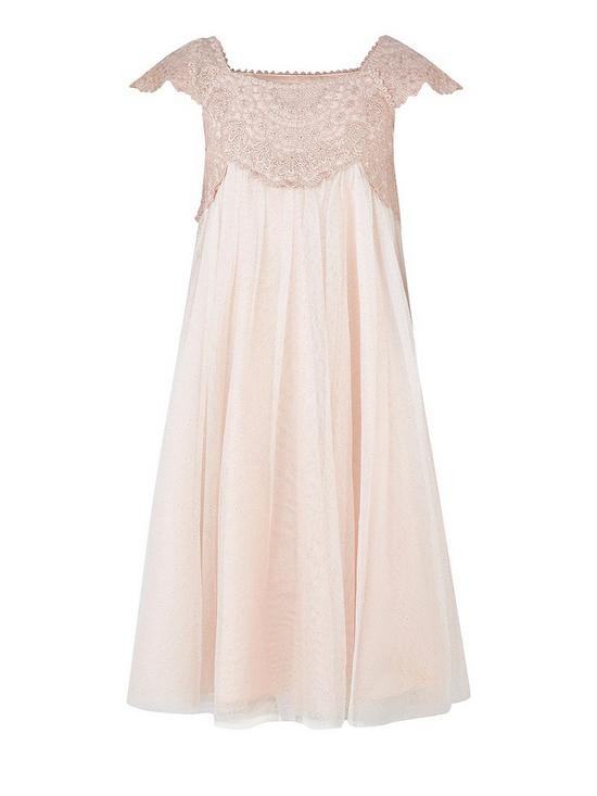 969cf675 Monsoon Estella Sparkle Dress - Pink | very.co.uk