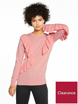 v-by-very-extreme-ruffle-jumper-coral-pink