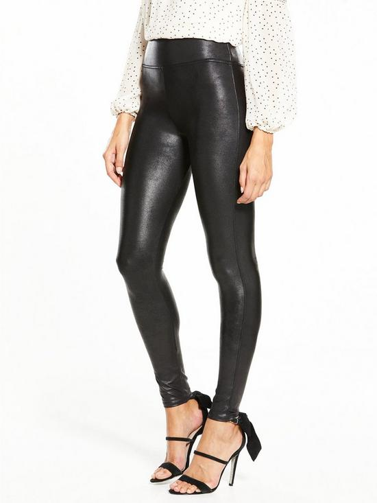 9bb364e0b818f Spanx Faux Leather Leggings - Black | very.co.uk