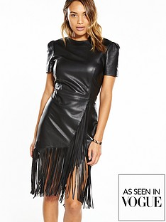 v-by-very-fringed-leather-dress-black