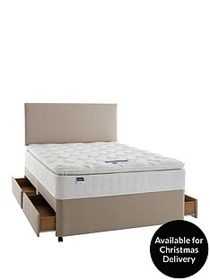silentnight-miracoilnbsp3-pippa-memory-foam-pillowtopnbspdivan-bed-with-half-price-headboard-offer-buy-and-save