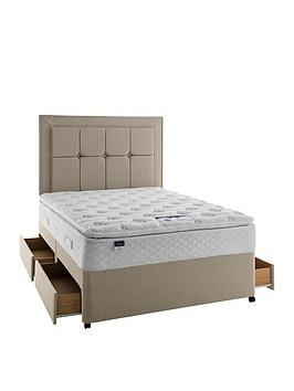 silentnight-tuscany-geltex-sprung-pillowtop-divan-bed-with-storage-options-headboard-not-included