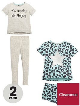 v-by-very-girls-slogan-and-leopard-print-pyjamas-2-pack