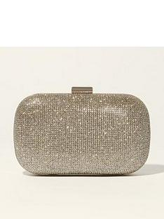 karen-millen-metallic-patchwork-clutch-bag