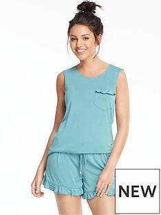 michelle-keegan-modal-frill-short-pyjama-set