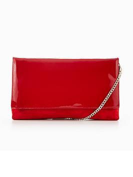 karen-millen-patent-brompton-clutch-bag