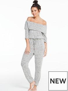 michelle-keegan-off-the-shoulder-lounge-jumpsuit