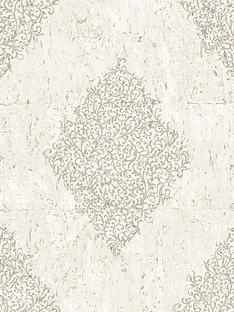 graham-brown-cork-medallion-creampale-gold-boutique-wallpaper