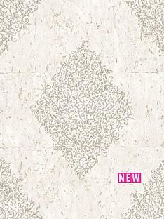 graham-brown-cork-medallion-creampale-gold-boutique-wallpaper